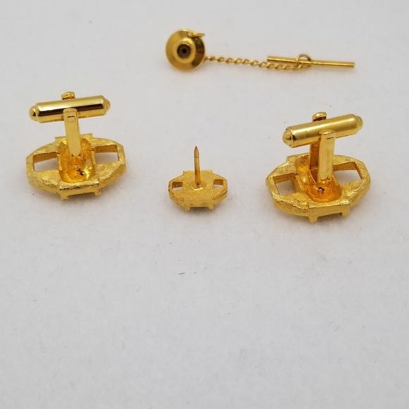 ac8263f0b19f Gold Tone Blue Accent Cufflinks Tie Tack. M_5b719153534ef91c9fd82927.  M_5b7191555c445274ad435ae3. M_5b71915712cd4ae1e463be9b.  M_5b719158fe515130973fc23f